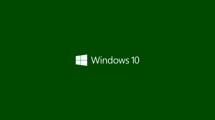 minimalism, logo, operating systems, Microsoft Windows, Windows 10