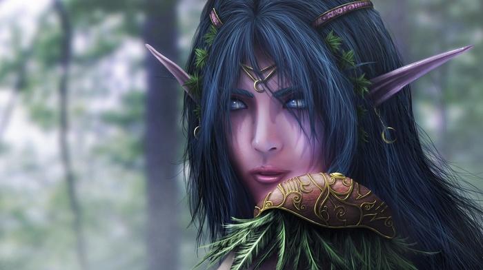World of Warcraft, video games, Blizzard Entertainment, elves, fantasy girl