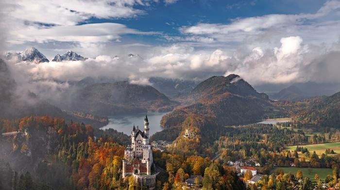 Germany, mountains, landscape, castle, Neuschwanstein Castle