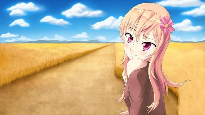 wheat, original characters, anime girls, anime