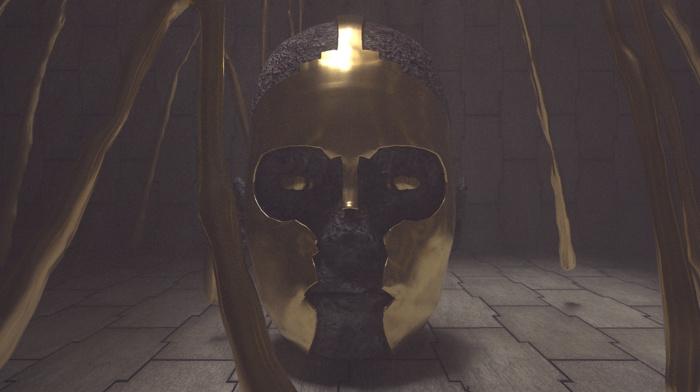 ancient, gold, titan, digital art, treasure