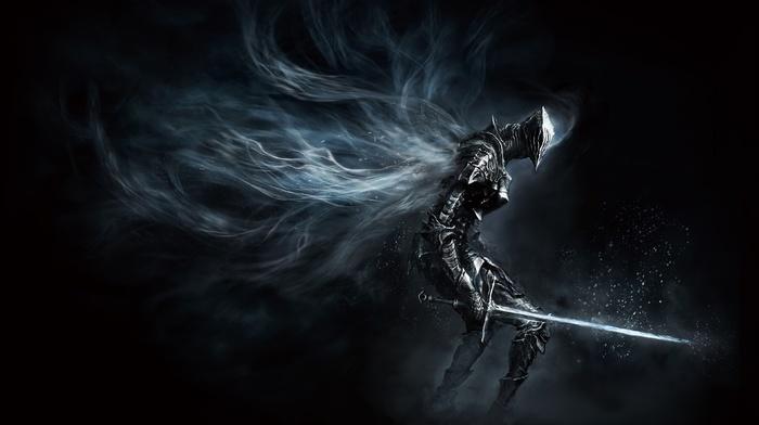 knight, Dark Souls III, Dark Souls, video games, armor, weapon, dark, concept art, sword, warrior, artwork
