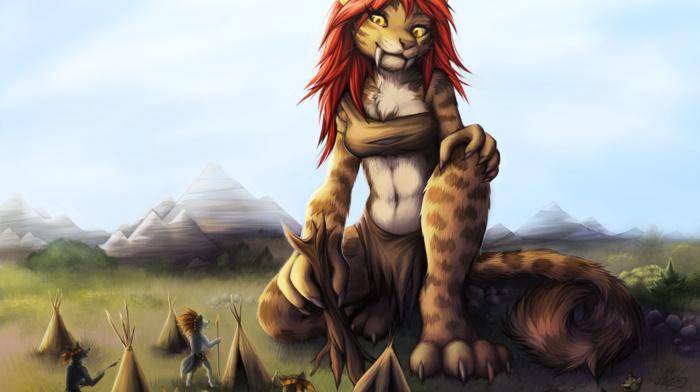 giant, furry, tribal, Anthro