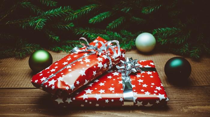 Christmas, presents, Christmas ornaments