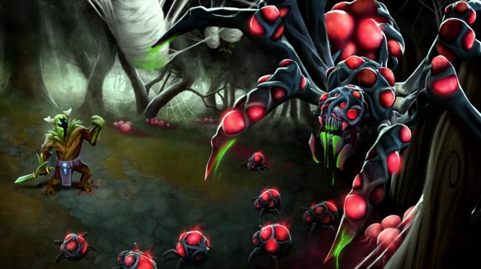 Dota, spider, Dota 2, Online games, Valve Corporation, Broodmother, Valve, fantasy art, video games, Defense of the ancient, hero
