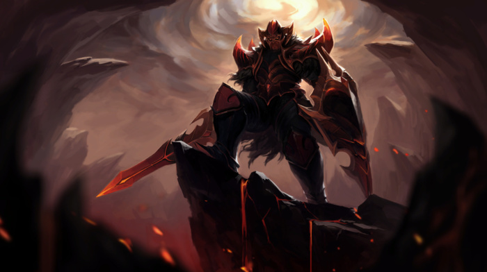 Valve, video games, Online games, Dota 2, helmet, Valve Corporation, Dota, hero, fantasy art, shield, Defense of the ancient, sword, knight, Dragon Knight