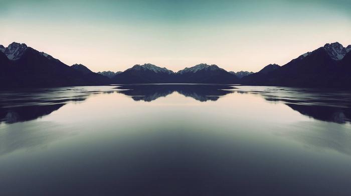 nature, photography, reflection, water, landscape, lake, mountains