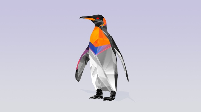 geometry, penguins, birds, abstract
