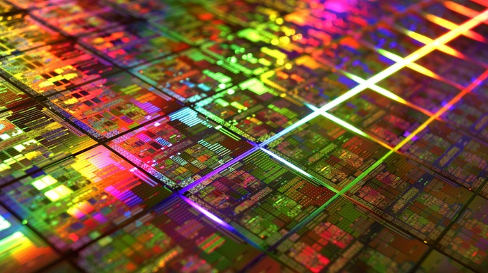 gold, colorful, cpu, photography, microchip, DIE, technology, IT, PCB, geometry