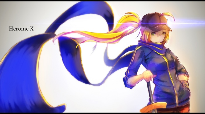 Mysterious Heroine X FateGrand Order, ahoge, Saber, scarf, fate series, FateGrand Order