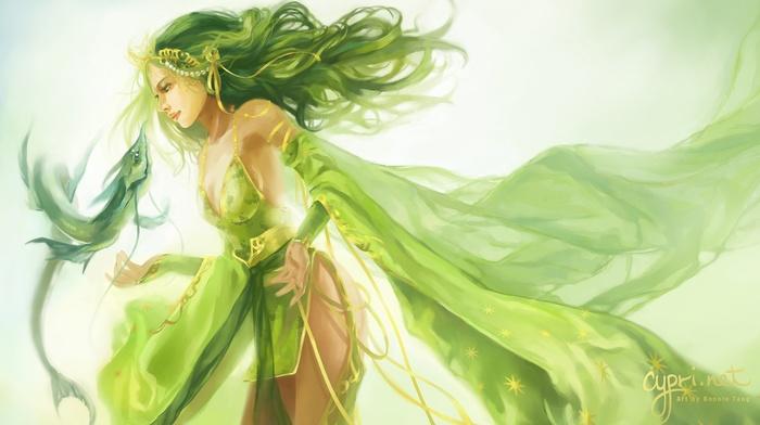 Final Fantasy, green hair, Final Fantasy IV, Rydia