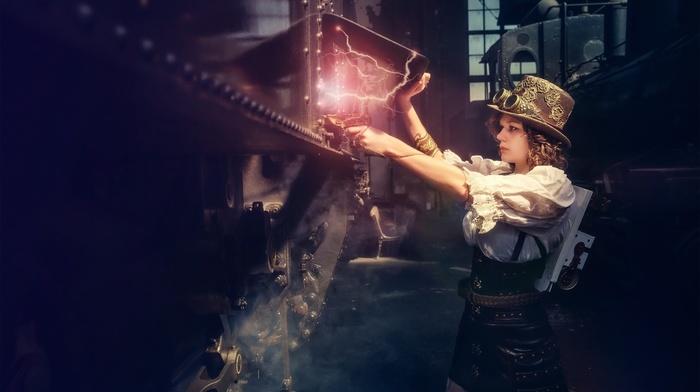 model, steampunk, girl