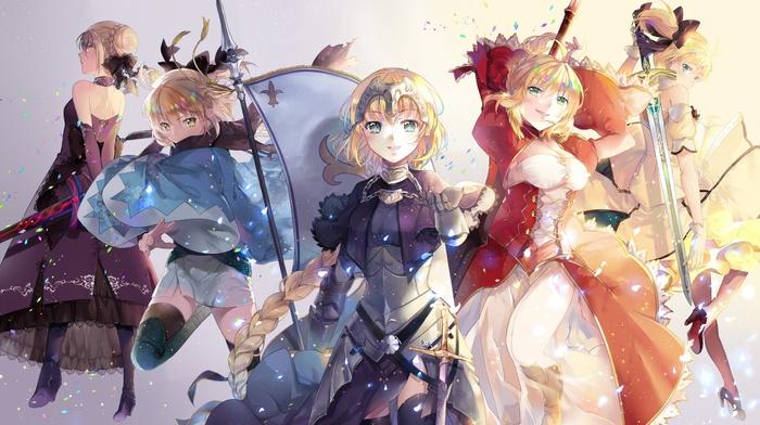 Saber Alter, anime girls, Saber Extra, anime, Sakura Saber, Saber Lily, Ruler FateGrand Order, fate series, Saber