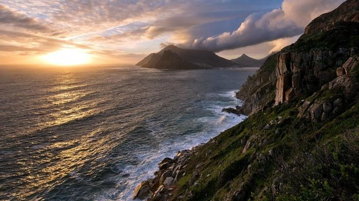 nature, landscape, cliff, water, photography, rock, coast