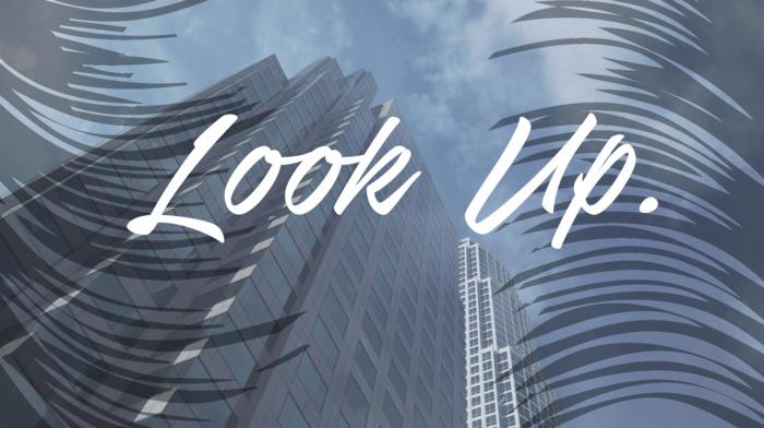skyscraper, text, landscape, IT design, clouds