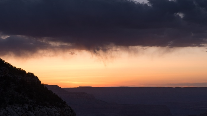 photography, clouds, dusk, landscape, canyon, nature