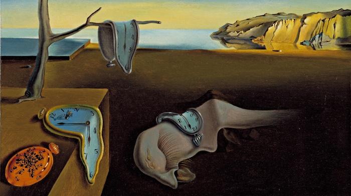 Salvador Dal, classic art, melting, clocks, surreal, landscape, painting