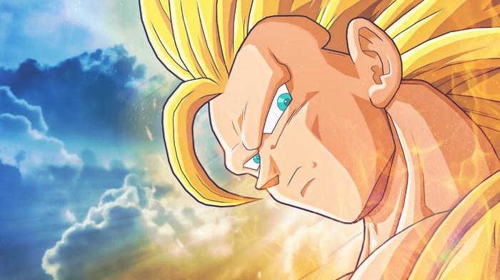 saiyayin, Dragon Ball, Son Goku, Dragon Ball Z, yellow