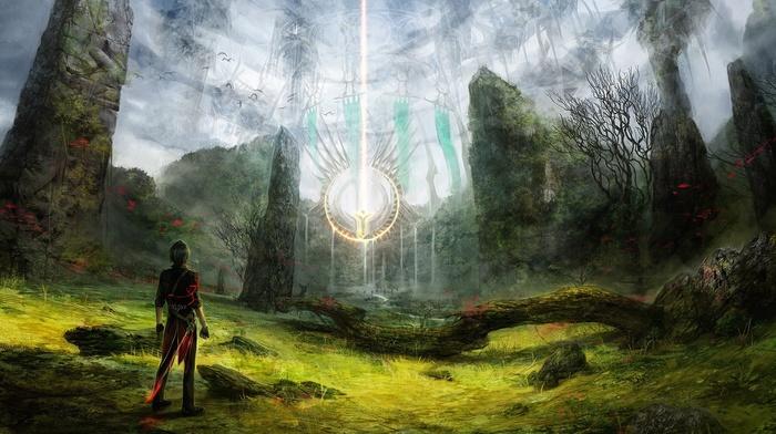 landscape, artwork, magic, fantasy art