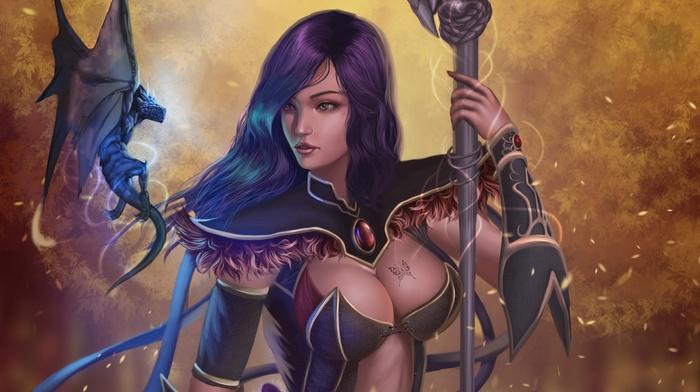 dragon, fantasy art, boobs, artwork