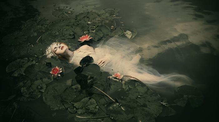 fantasy art, Ophelia, girl, model