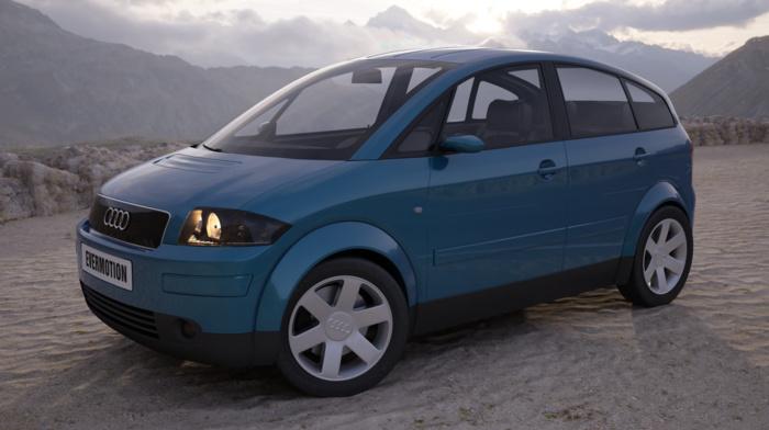 car, Audi, evermotion