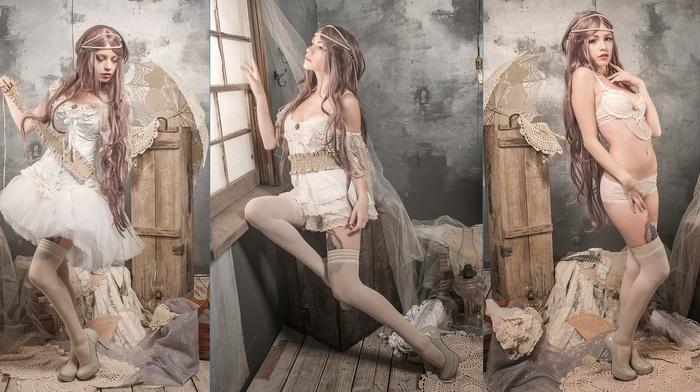 girl, model, collage, Katrina Wilkinson