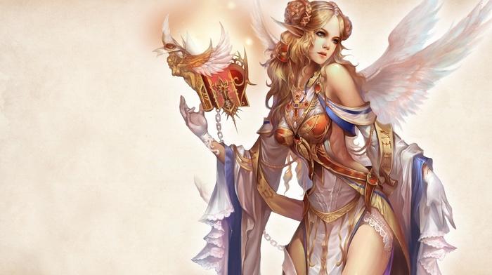 artwork, girl, fantasy art, magician, books