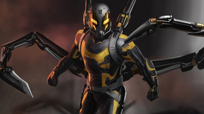 Ant, man, comics, movies, Yellowjacket, artwork, Marvel Comics