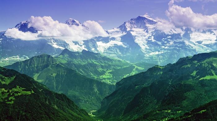 Jungfrau, landscape, Bernese Alps, photography, mountains, nature, Alps