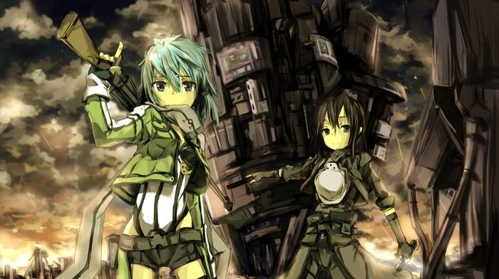 Kirigaya Kazuto, anime, sword art online, Asada Shino, anime girls