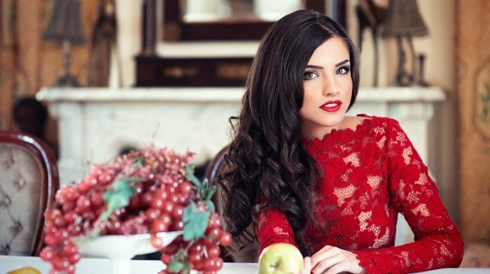 apples, model, girl