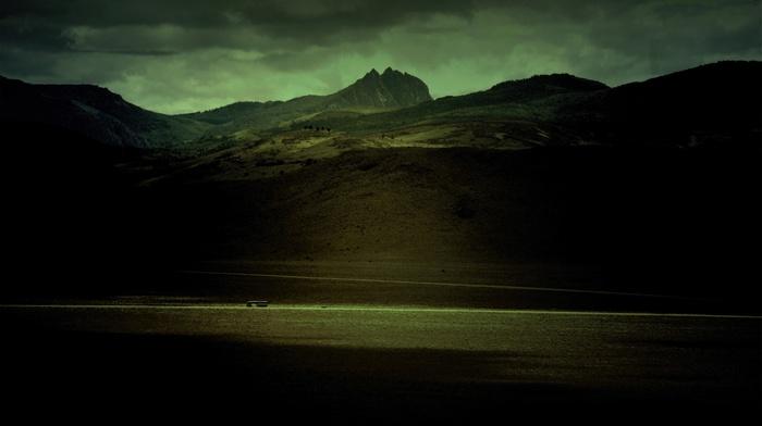photography, nature, desert, hills, green, landscape
