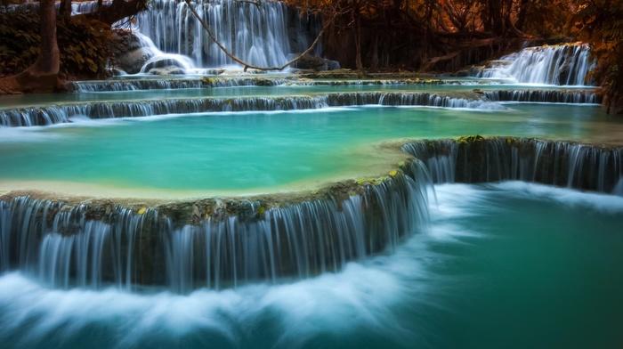 nature, waterfall