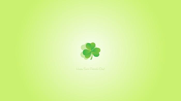 leaves, minimalism, green, clovers