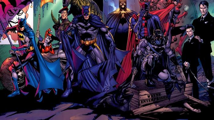 DC Comics, Batgirl, Batwoman, Harley Quinn, comics, hero, superhero, artwork, Batman