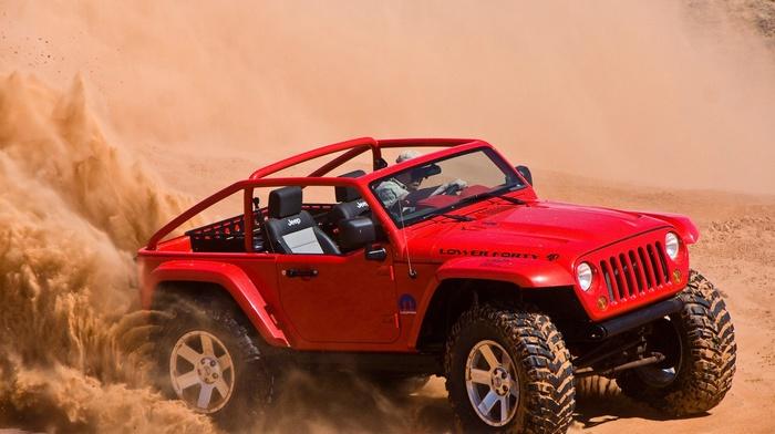 Jeep, car, desert
