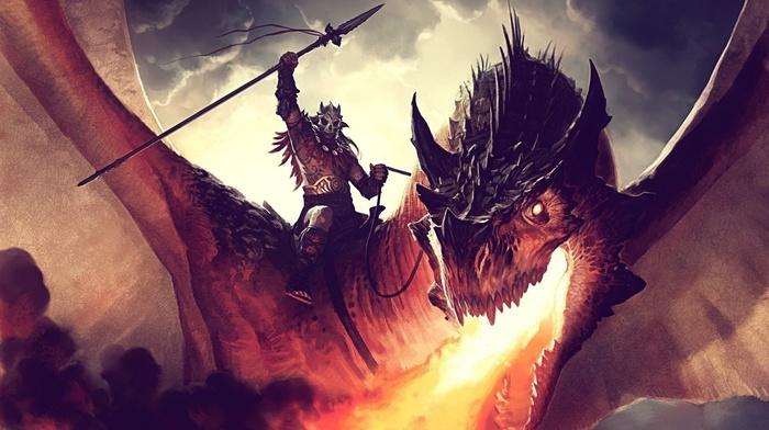 fantasy art, dragon, 3D