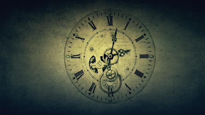 gears, Roman numerals, screw, time, gradient, clocks, vintage, watch, text, clockworks, hands