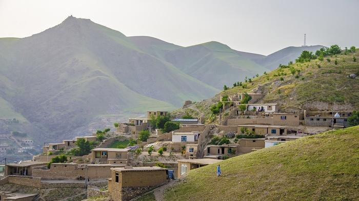 stone house, house, nature, Afghanistan, landscape, Badakhshan, green