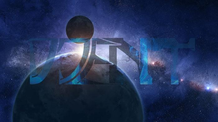 galaxy, space, stars, Djent, planet