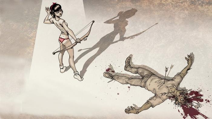cartoon, zombies