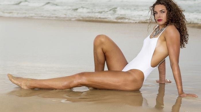 beach, girl outdoors, model, girl