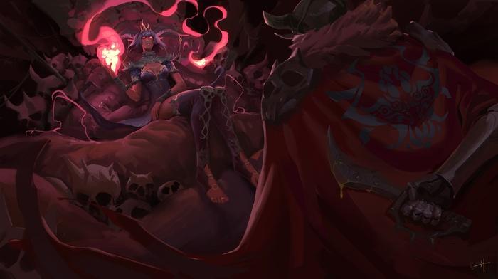 demon, dagger, fantasy art
