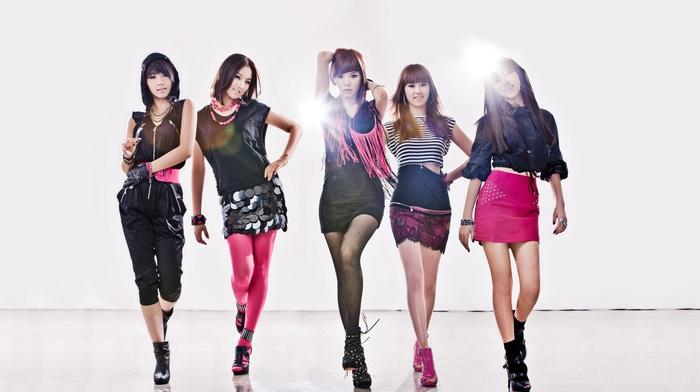 K, pop, 4minute, Korean, Asian, skirt, group of girl
