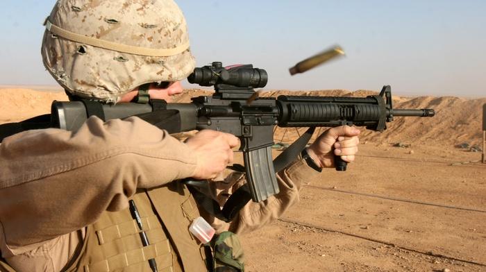 desert, weapon, assault rifle