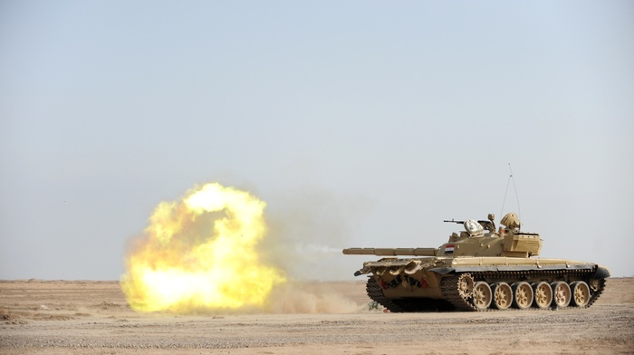 tank, Iraq, military, T, 72, war, desert