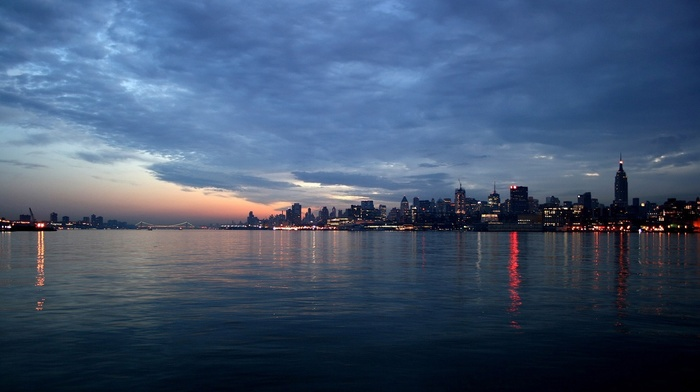 photography, urban, sea, water, building, cityscape, New York City