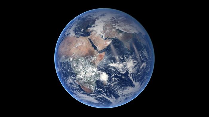 Earth, space, digital art, space art, minimalism, render, CGI