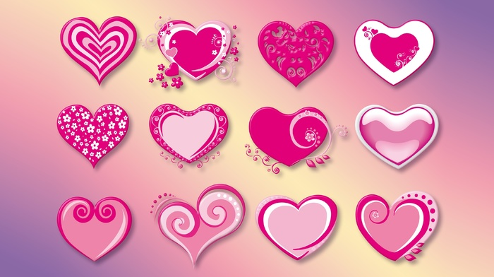 love, pink, Valentines Day, vector, heart